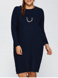 Plus Size Ribbed Bodycon Sweater Dress