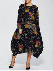 Plus Size Pockets Design Maxi Baggy Dress