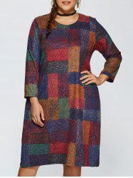 Plus Size Plaid Baggy Dress