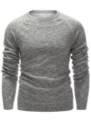 Raglan Sleeve Crew Neck Flat Knitted Sweater