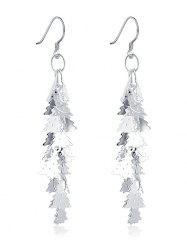 Christmas Tree Drop Earrings - SILVER