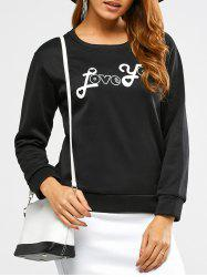 Love You Pattern Sweatshirt -