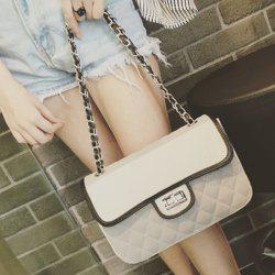 Chains Quilted Shoulder Bag - GRAY