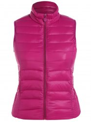 Plus Size Zip Up Quilted Waistcoat -