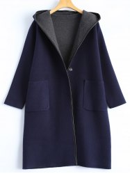 Covered Edge Reversible Hooded Cardigan