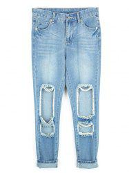 Destroyed Ripped  Pencil Jeans -
