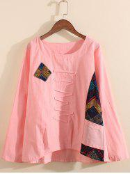 Zigzag Applique Long Sleeve Top -