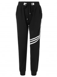 Drawstring Striped Sweatpants