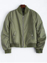 Zippered Bomber Jacket