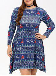 Christmas Graphic Swing Dress -