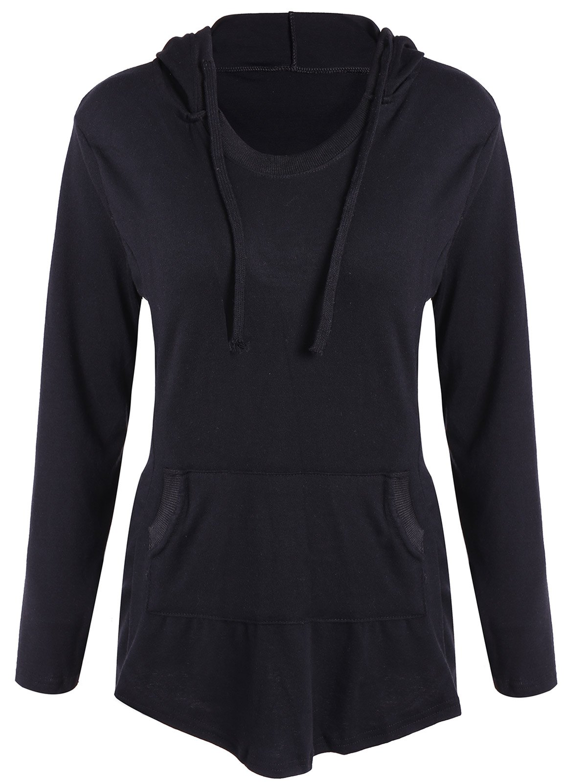 Fancy Drawstring Pocket Embellished Hoodie