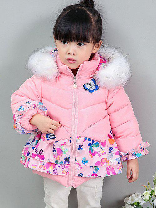 Shop Ruffles Butterfly Print Coat