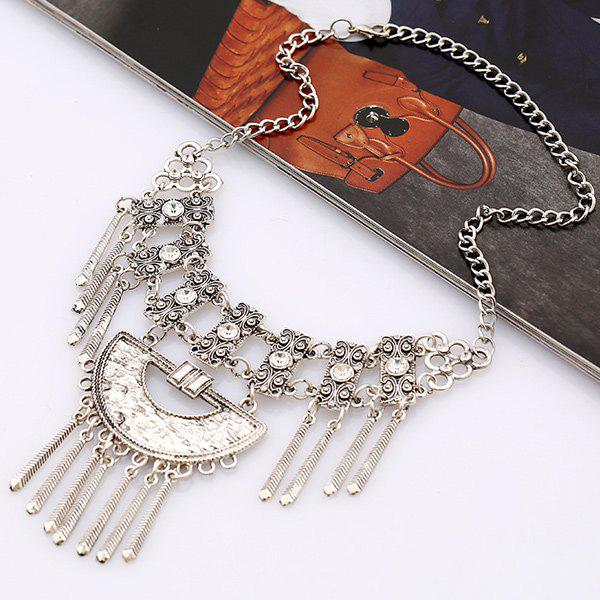 Hot Vintage Alloy Rhinestone Necklace