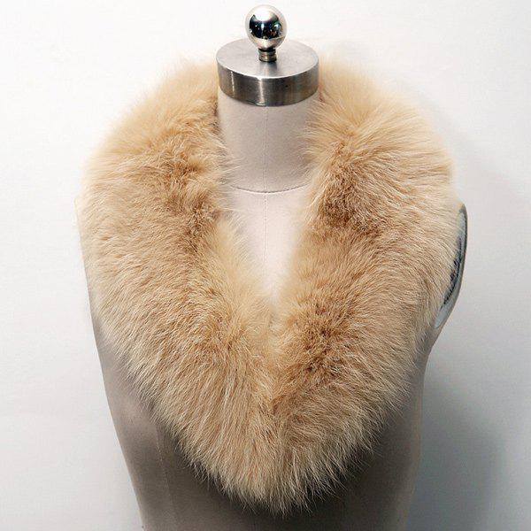 Faux Fur Collar ScarfACCESSORIES<br><br>Color: LIGHT BROWN; Scarf Type: Ring; Group: Adult; Gender: For Women; Style: Fashion; Material: Faux Fur; Season: Fall,Winter; Scarf Length: 80CM; Scarf Width (CM): 8CM; Weight: 0.120kg; Package Contents: 1 x Scarf;