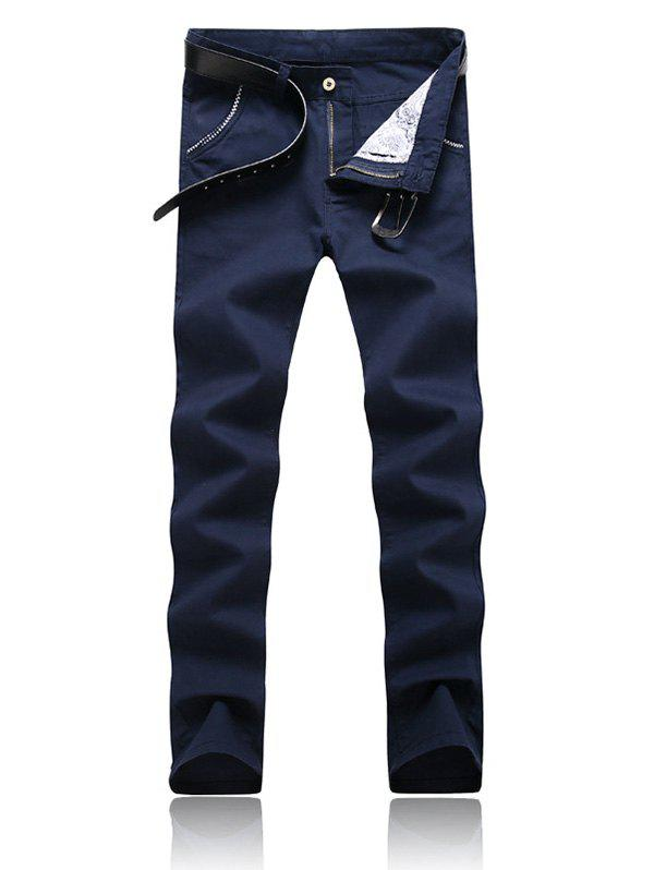 Shops Trimmed Pocket Zipper Fly Tapered Pants