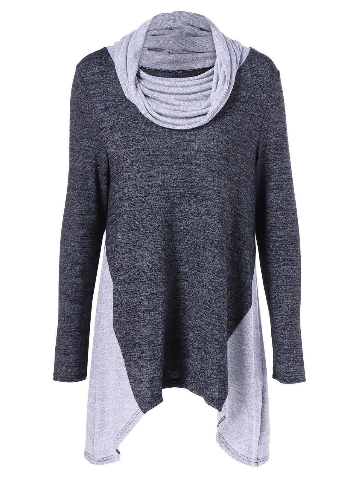 Hot Cowl Neck Asymmetrical Knitwear