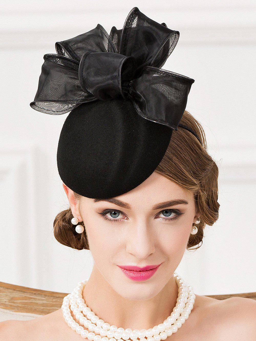 Outfit Chic Organza Bowknot Cocktail Hat 2918df400ed