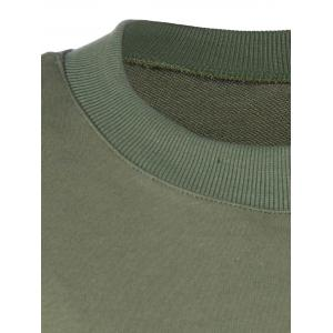 Plus Size Double Ziper Sweatshirt - ARMY GREEN 5XL