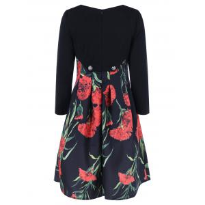 Fit and Flare Floral Patterned Dress -