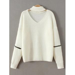 Choker Neck Plain Sweater