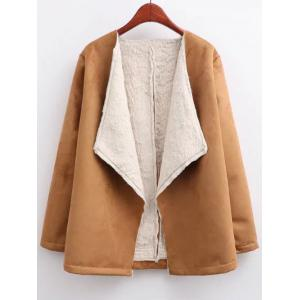 Open Front Long Shearling Coat
