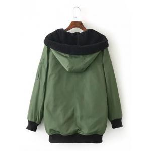 Hooded Long Thick Field Jacket -