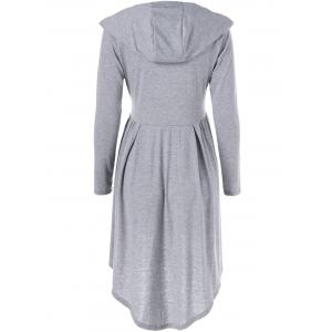 Hooded High Low Dress -