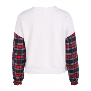 Etre Graphic Plaid Insert Sweatshirt -