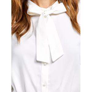 Long Sleeves Pussy Bow Blouse -