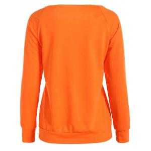 Halloween Pumpkin Graphic Orange Sweatshirt -