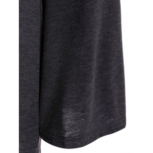 Flare Sleeve Cold Shoulder T-Shirt - DEEP GRAY XL