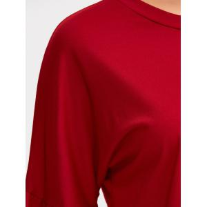 Loose Bell Sleeve T-Shirt - RED L