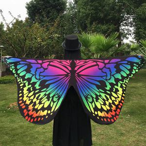 Merry Gradient Color Butterfly Wing Scarf - Multicolor