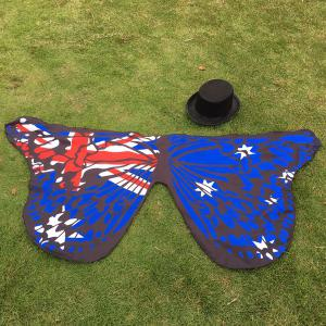 Outdoor Australian Flag Butterfly Scarf - ROYAL