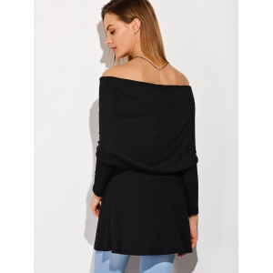 Ribbed Off The Shoulder Top -