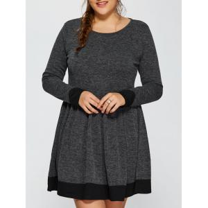 Contrast Trim Plus Size Dress