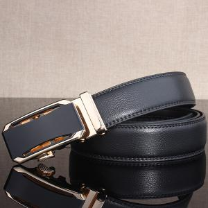 Stylish Faux Leather Automatic Buckle Wide Belt -