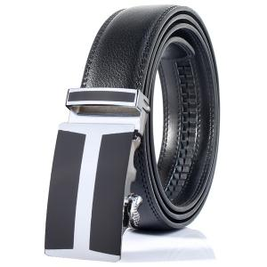 Simple H Shape Automatic Buckle Wide Belt