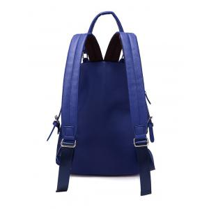 Zippers Double Buckle Splicing Backpack -