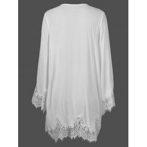 Lace Panel Duster Cardigan -