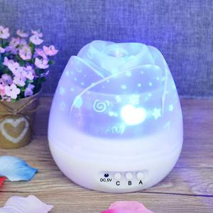 Romantic Room Atmosphere Starry Sky Baby Room Projector Lamp - White