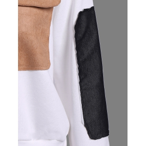 Contrast Pocket Embellished Sweatshirt -