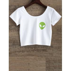 Alien Graphic Boxy Crop Top
