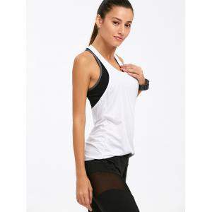 Active Keep Going Printed Raceback Tank Top - WHITE XL