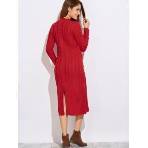 Cable Knit Sweater Dress -