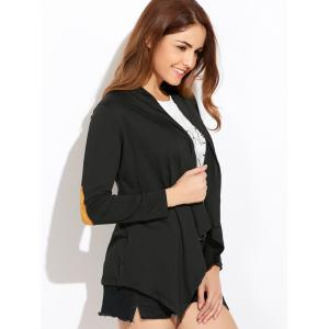 Open Front Draped Blouse -
