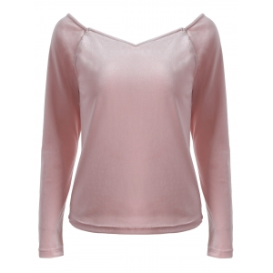 V Neck Long Sleeve Slimming T-Shirt
