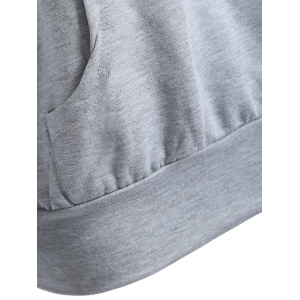 Front Pocket Pullover Hoodie - GRAY 2XL