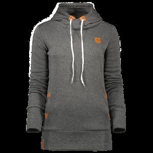 Badge Patch High Neck Hoodie - Deep Gray - 2xl