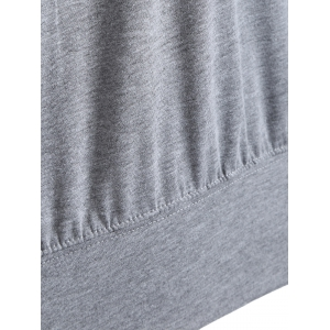 Skew Neck Sweatshirt Graphic - Gris 2XL